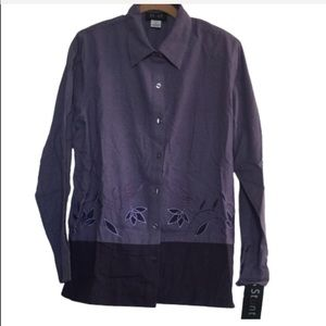 NEW! Embroidered Top in Shades of Purple by Stunt